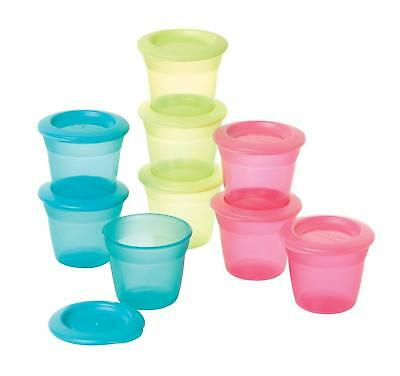 Tommee Tippee Food Storage Pots and Lids 4+ Months (Colours May Vary, 3-Pack)