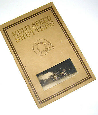 Vintage 1912 MULTI SPEED SHUTTERS Priced & Illustrated Catalog