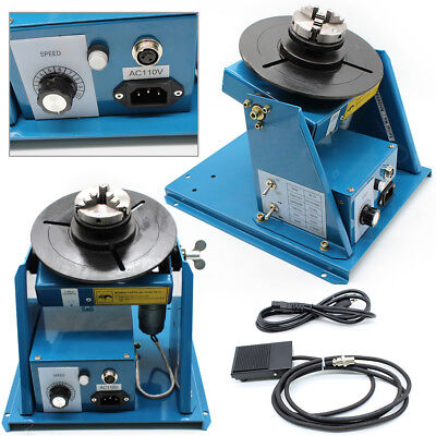 2-10RPM 3-Jaw Lathe Chuck Light Duty Welder Rotary Welding Positioner 110V 10KG