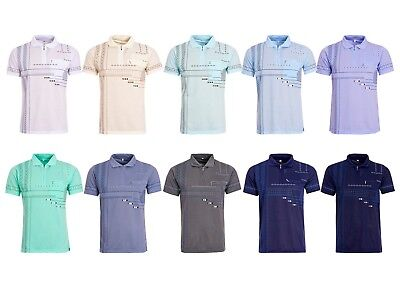 Men Be Lucky Polo Zip Shirts Summer Casual Top Cotton T-Shirt With Chest Pocket
