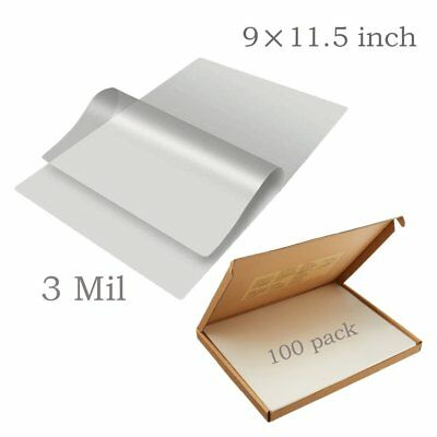 100 Pack Universal Thermal Clear Laminating Pouches 3 Mil Letter Size 9 x 11.5