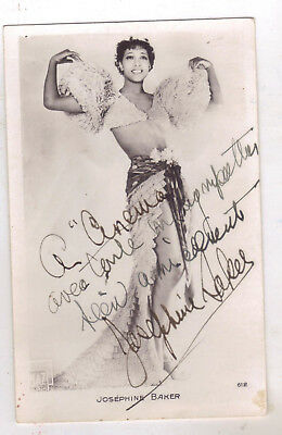 American Singer ,stage & Movie Actress Josephine Baker ,autographed Studio Photo