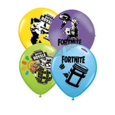 "8PCS Fortnite Video Game Latex /18"" Foil Birthday Party Decorations Balloons."