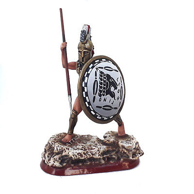 Tin soldier Athenian hoplite in red cloak 54mm Greek phalanx Collectible