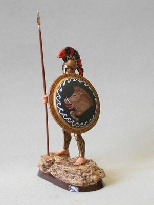 Tin soldier, Collectible, Spartan hoplite with a spear, Greek Phalanx, 54 mm
