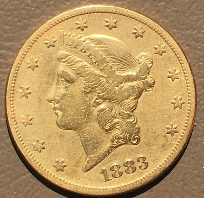 1883-S $20.US Gold Double Eagle Coin