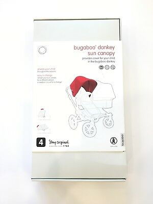 Bugaboo Donkey Sun Canopy in Red New with Tags for $40/. Retails for $80