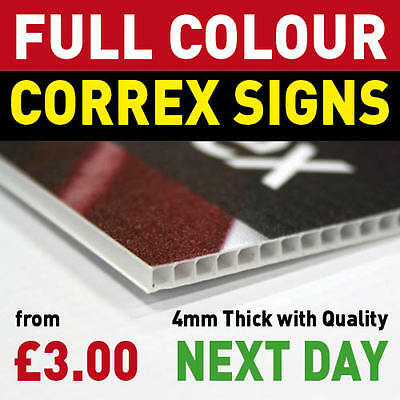 Correx Signs Printed Full Colour  - Lamp Post Sign - High Quality - Full Colour