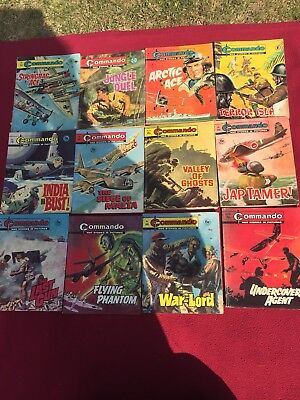 Commando war comics dating from 1959 to 1970s 80 in total