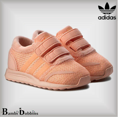 Adidas Originals Los Angeles Trainers Baby Girls UK Infant Size 3 4 5 6 7 8 9 10