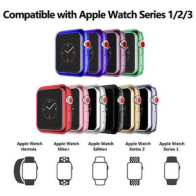 Shockproof Electroplate TPU Protectiver Case Cover For Apple Watch iWatch 38 42