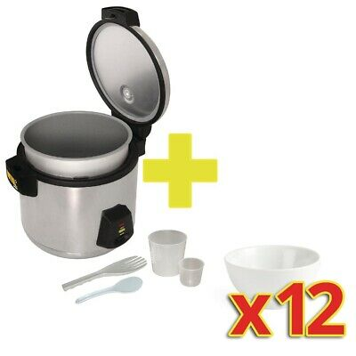 Special Offer Buffalo Rice Cooker with 12x Olympia Bowls (Next working day to UK