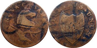 1787 New Jersey Copper, Maris 48-g, STRONG FINE, good detail, NO RESERVE!