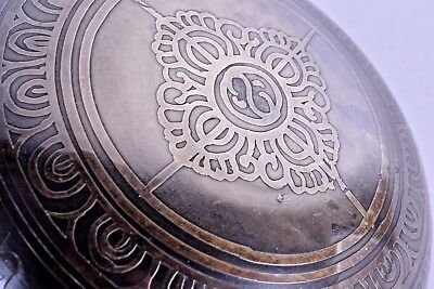 museum quality 17th 18th c persian silver and bronze bowl islamic middle eastern