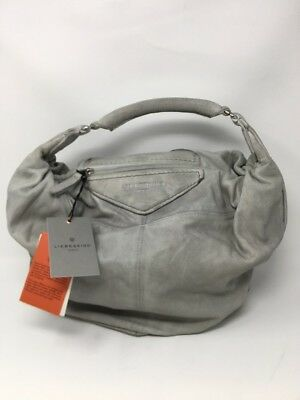 MSRP198 online store ea73e  NWT Liebeskind Berlin Tumba Washed Leather Hobo  Hyena Grey 358 info for 24bb8 941e1 ... ebecede632301