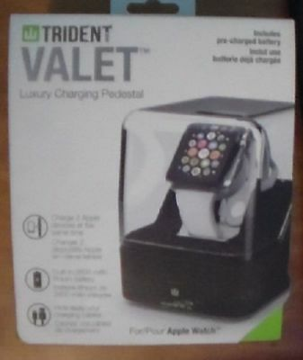Trident Valet Case - Luxury Charging Pedestal for Apple Watches