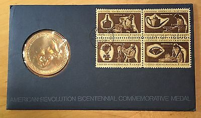 1972 Bicentennial First Day Cover, George Washington Mint Medal (Box 3)