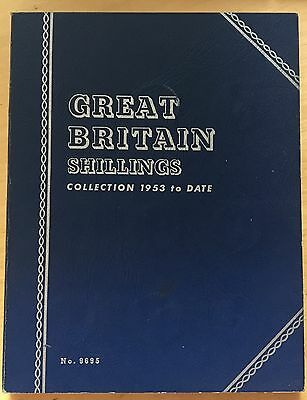 Great Britain Shillings, 1953- Collection, Almost Complete, Whitman (book8)