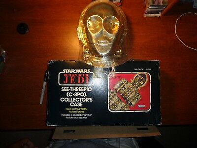 RARE Vintage Star Wars ROTJ 1983 C-3PO Figure Carry Collectors Case Sealed MISB
