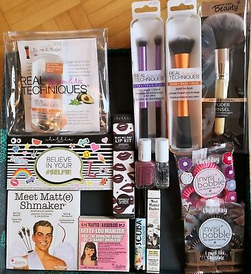 ★BEAUTY HAUL 13 Teile The Balm Real Techniques Pinsel Lottie London Essie★