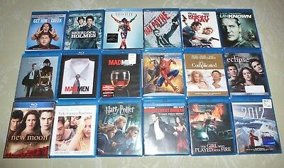 18 Blu Ray LOT ~ Movies Girl Who Played With Fire Adjustment Bureau Harry Potter