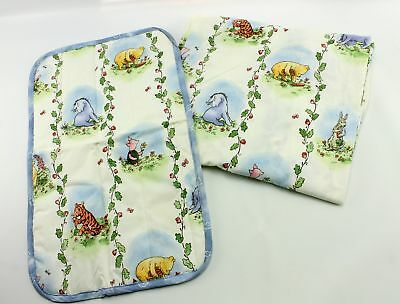 Classic Pooh Winnie Nursery Crib Mattress Fitted Bed Sheet & Changing Pad