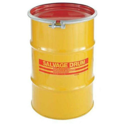 Skolnik 30 Gallon Open Head Carbon Steel Salvage Transport Overpack Drum,