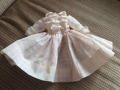 VINTAGE Madame Alexander Elise Pink Doll Dress with Fancy Slip!
