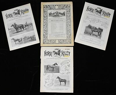 1909-1914 Horse Review Horseman Racing Magazines Lot (4)