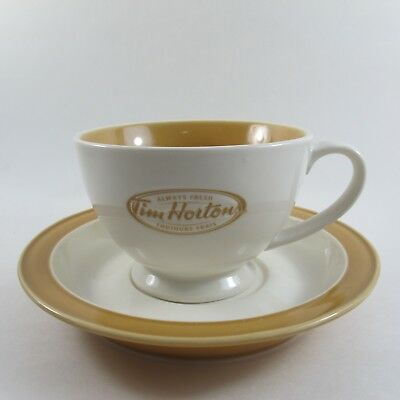 Tim Hortons Tea Coffee Cup & Saucer Always Fresh Collectible
