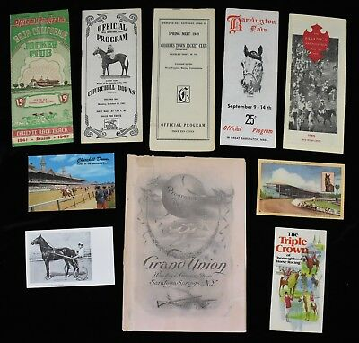 1903 Saratoga Horse Racing Programs Lot Grand Union & More (10)