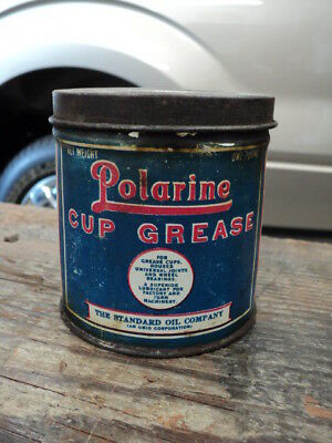 Vintage Standard Polarine 1 Lb. Grease Can - One Pound Gas Oil Can