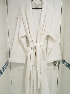 FRETTE XXXXL Shawl Collar Iconic White Terry Bathrobe & Slippers *FREE SHIPPING*