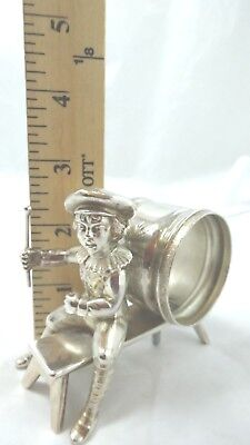 Napkin Ring Holder Figural Boy sitting on a bench (10) CO H.F.D.C.T.