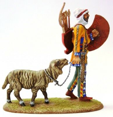 Tin soldier, Collectible, Persian warrior with a sheep, Archer, Infantry, 54mm