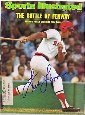 FRED LYNN SIGNED SPORTS ILLUSTRATED S.I. - Boston Red Sox - Baltimore Orioles