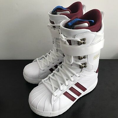 detailed look 8eb5f d686b ADIDAS SUPERSTAR ADV 2018 Mens Snowboard Boots White New Size 9.5