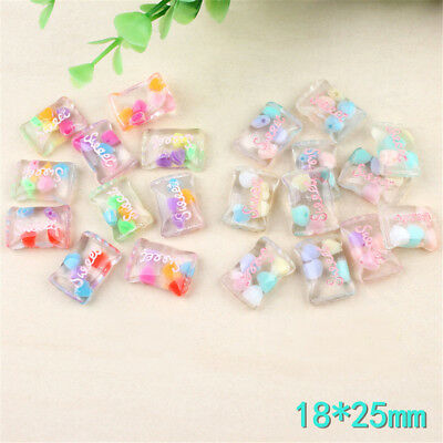 for diy phone case decor craft 5pcs miniature artificial fake food sweet candyHT