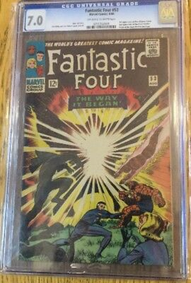 Marvel Comics: Fantastic Four #53  7.0 CGC