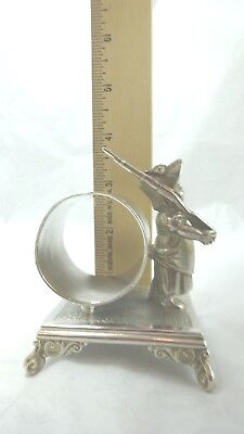 Napkin Ring Holder Figural Girl with Rifle (17) Simpson Hall Miller