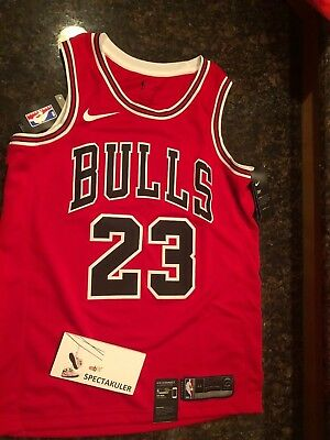 new concept 75873 6a7a5 NIKE MICHAEL JORDAN Icon Edition Swingman Chicago Bulls Red Jersey Size  Medium M