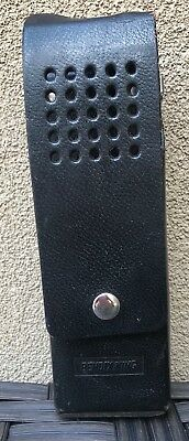 BENDIX/KING Black Leather Duty Case Carrier Holster