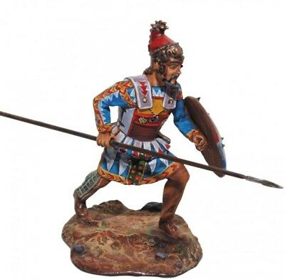 Tin soldier, Collectible, Phrygian mercenary, spearman, Light Infantry, 54mm
