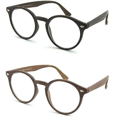Occhiali neutri KISS® mod.WAVE ICONIC WOOD montatura da vista STILE MOSCOT retro