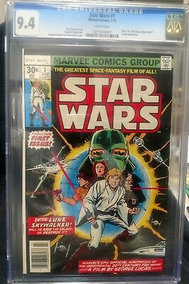 1977 Star Wars Comic #1 CGC Graded 9.4 Marvelous looking Comic! (White Pages)