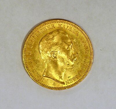 1901 Prussian (Germany) 20 Gold Mark coin for Wilhelm II