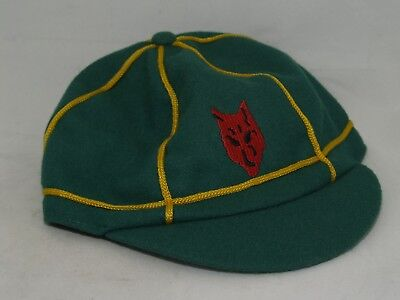 Vintage Greece Boys Scout Wolf Cub Scout Cap/Hat Green Gold