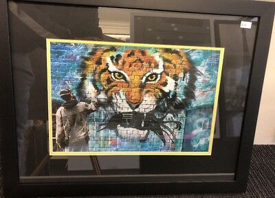 Richmond Tigers 2017 AFL Premiers Art / Graffiti / Framed Dustin Marten