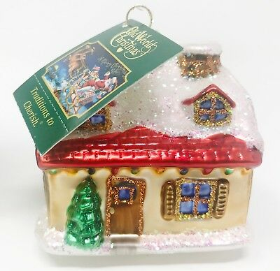 Merck Family's OLD WORLD CHRISTMAS - Snow Covered House - New With Tags
