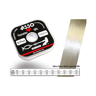 Fluorocarbon Asso Of Hearts Diameter 0.15 Load 1.8Kg Mt50